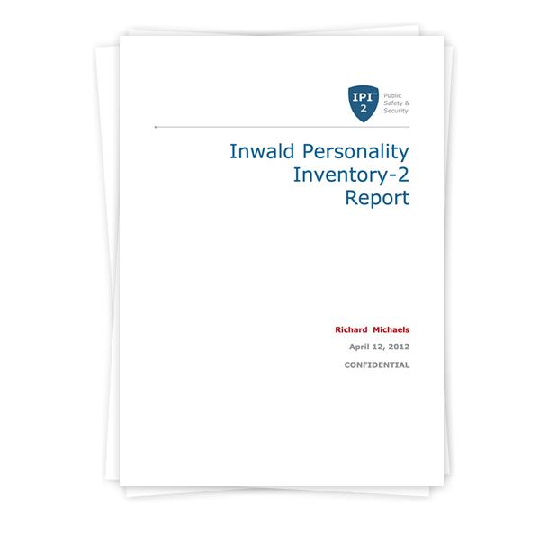 Inwald Personality Inventory-2 (IPI-2) Report - 16pf com